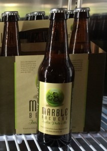 Proudly serving Marble Brewery Beer