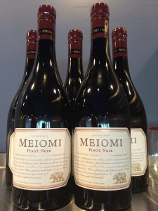 Now serving Meiomi Chardonnay and Pinot Noir